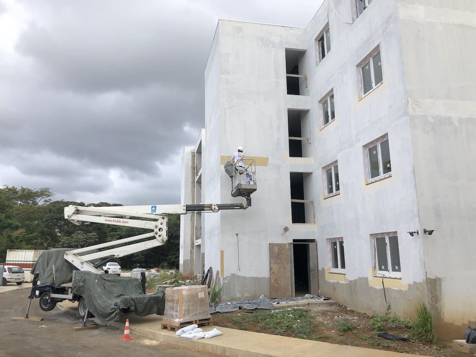exemple de chantier de peinture & rénovation par EPH en Martinique